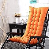 Zchui Respaldo Alto Silla Cojín, mecedora cojines, cubierta de la silla del amortiguador naranja