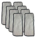 Crucial Vacuum Replacement Mop Pads Part # 60978, 60980 & 60980A - Fits Eureka Steam Pad Fit Models 310A, 311A, 313A Enviro Floor Steamer - Washable, Reusable Part and Model for Home (8 Pack)