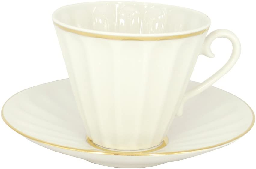 Lomonosov Porcelain Set 2pc Cup and Mail order 7. White Saucer Radiant Free shipping Snow