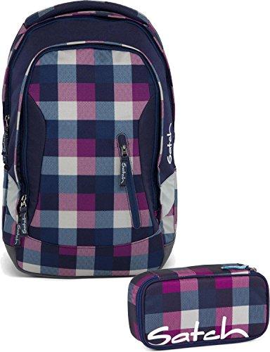 Satch Schulrucksack-Set 2-TLG Sleek Berry Carry Lila