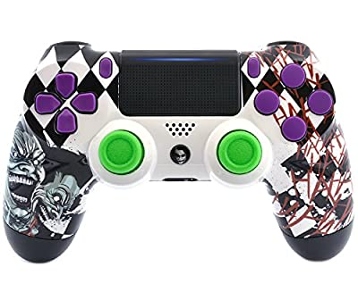 """Supervillain"" Ps4 PRO Rapid Fire Custom Modded Controller 40 Mods for All Major Shooter Games, Auto Aim, Quick Scope Sniper Breath & More with Custom Touchpad and Guide Button (CUH-ZCT2U)"