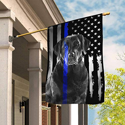 Flags-Labrador Retriever. Police Dog. K9 Flag THB2142F1, Garden Flag (11.5' x 17.5')-USA House Garden Flags Premium Polyester-Decorative Outdoor Flags