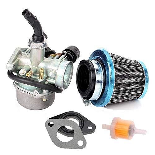 PZ19 Carburetor for 50cc 70cc 80cc 90cc 110cc 125cc ATV Dirt Pit Bike Taotao Honda Go Kart Horizontal Engine Carb With Air Filter kit