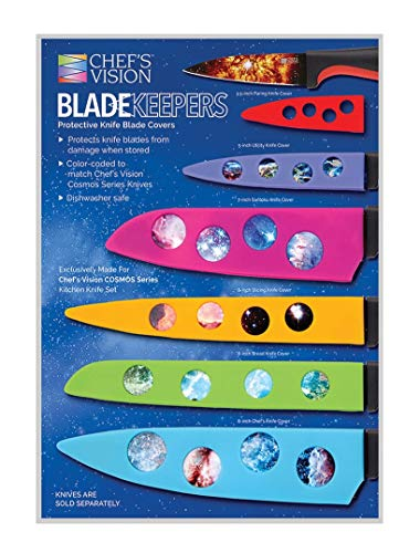 Chef's Vision Blade Keepers Protective Knife Covers for The Cosmos Series Knives - Knives Not Included - Color Blade Cover Sheaths for Kitchen Knives - Blade Guards to Protect Your Cosmos Knives