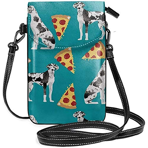 Inner-shop Deutsche Dogge Pizza Leder Handy Geldbörse Halter Brieftasche Functional Multi Pocket