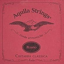 Cuerdas Guitarra Clásica Set Rubino Juego de Cuerdas 134C Aquila Rubino Tension Normal