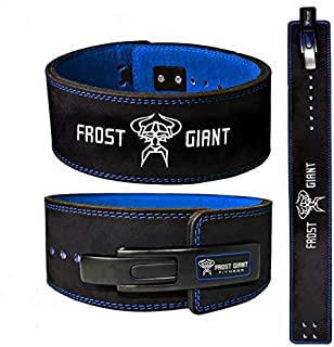 Frost Giant Fitness Power Lifting Lever Belt Suede Leather Weightlifting Belt for Men and Women – Lever Professional Grade – Premium Quality Durable Materials –
