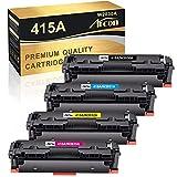 Arcon Cartucho de tóner Compatible con para Usar en Lugar de HP 415A W2030A W2031A W2032A W2033A Color Laserjet Pro MFP M479fdw M479fdn M479dw M454dw M454dn (Negro,Cian,Amarillo,Magenta,Pack de 4)