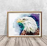 AQjept DIY Pintar por números águila Kits de Pintura por números para Adultos, niños, Personas Mayores, Principiantes, acrílicos, Kits de Pintura al óleo DIY