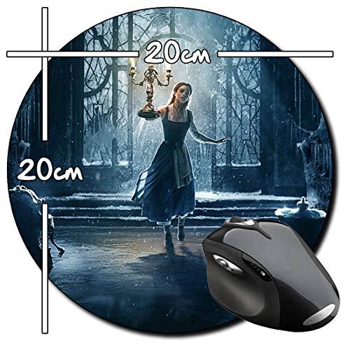 La Bella Y La Bestia Beauty and The Beast Emma Watson Alfombrilla Redonda Round Mousepad PC