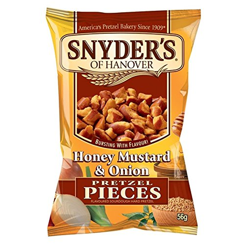 Snyder's Of Hanover Pretzel Pieces - Honey Mustard and Onion 56g (Pack of 30)