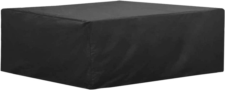 FUSHOU-Funda Para Muebles De Jard/ín Impermeable Al Aire Libre Rota Patio Fundas Para Muebles Cubierta De Mesa De Jard/ín 420D Tarea Pesada Tela Oxford Resistente Al Desgaste,Negro,135x105x75cm