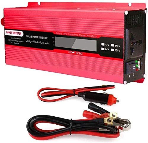 KPL potencia del inversor de onda sinusoidal pura Car Power Inverter, 2000W (4000W pico) 12V 24V a AC 110V-220V onda sinusoidal modificada del coche camión de la fuente de alimentación for el cuaderno