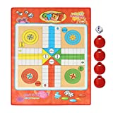 Alomejor Snakes and Ladders Ludo Game Set Traditional Board Brain Game for Adults and Kids