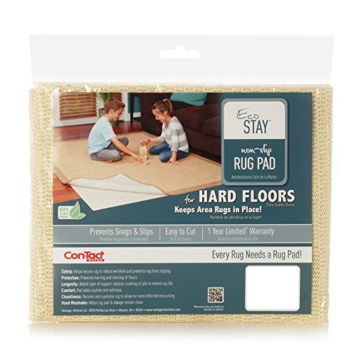 Con-Tact Rug Pad 2x8, Non-Slip Area Rug Pad, Eco-Stay for Hard Floors