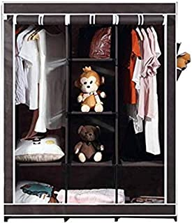Whitecloud® 6+2 Layer Fancy and Portable Foldable Collapsible Closet/Cabinet (Need to Be Assembled) (88130) (with Pocket, ...