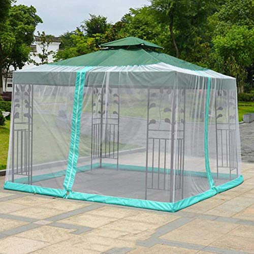 AJH Outdoor Garden Umbrella Table Screen Parasol Mosquito Net Mesh Tent Portable,Parasol Converter Cover Turn Your Parasol into a Gazebo