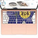 igsticker MacBook Air 13inch 2018 専用 キーボード用スキンシール キートップ ステッカー A1932 Apple マックブック エア ノートパソコン アクセサリー 保護 015834 月見 十五夜 うさぎ
