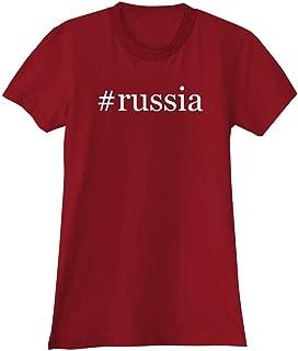 #Russia - A Soft & Comfortable Hashtag Women's Junior Cut T-Shirt