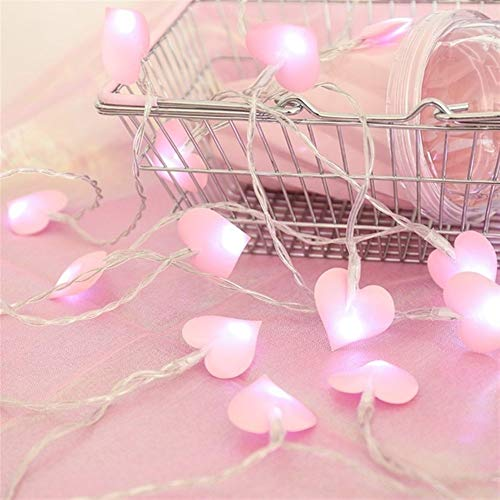 Fashion Fairy Light Led Lighting 1.5m 10 Led 3cm Ball String Light Fairy Light Led Home Decoration Coffee Shop (Color : Love pink, Size : 3m 20led)