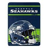Northwest NFL Seattle Seahawks 46x60 Micro Raschel Run Design RolledBlanket, Team Colors, One Size (1NFL059050022RET)