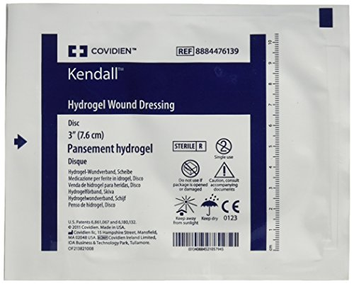 Kendall/Covidien Kendall Aquaflo Hydrogel Wound Dressing Disk, 3 Inch, 5 Count