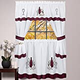Sweet Home Collection Seted Design with Tier, 36', Burgundy