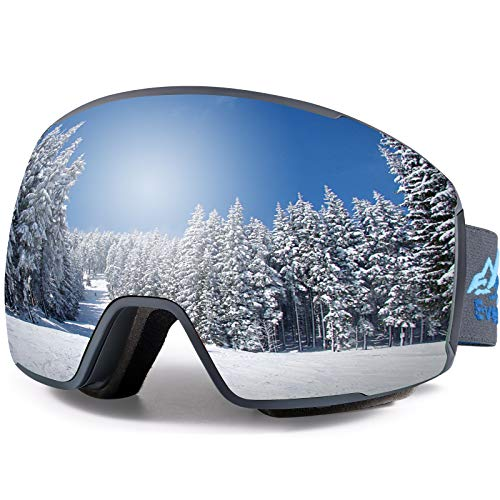 EverSport Ski Goggles Pro, Magnetic Snowboard Snow Goggles for Women Men, UV Protection