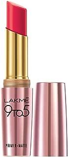 Lakme 9 to 5 Primer + Matte Lip Color, Ruby Rush, 3.6 g
