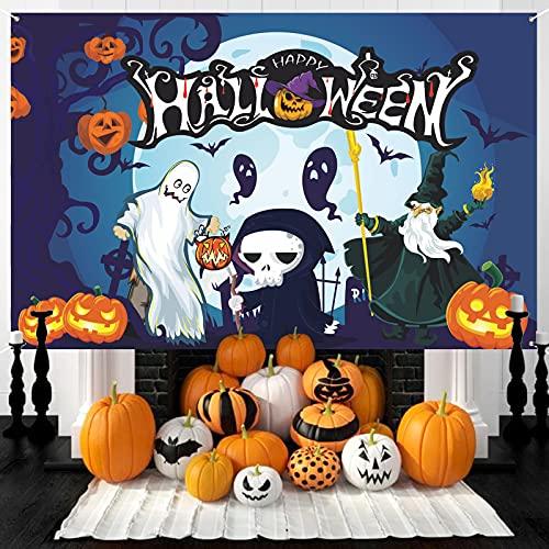 Halloween Banner Großes, Extra Lange Halloween Hintergr& Banner, Hängende Yard-Banner Halloween Hängendes Banner Veranda Zeichen für Home Decor, Hängende Flagge für Halloween Party Deko Freien