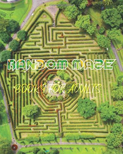 random Maze Games Book: book for adult