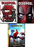Spider Dead Marvel pool Triple Super Hero Movies Deadpool with Gag Reel (DVD ) Part 2 + Homecoming Spider-Man Movie 3 Pack Comic