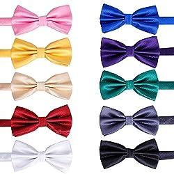 commercial Elegant 10-piece pre-tied bow tie, formal black tie bow tie with adjustable neck strap, gift ideas … target bow tie
