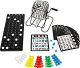 Bavaria Home Style Collection Bingo Spiel Set mit Bingotrommel aus Metall | 75 Kugeln | 18 Bingo...