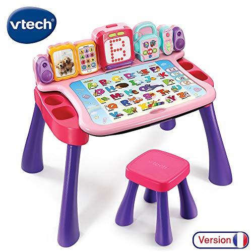 Vtech – Magi 4 in 1 Schreibtisch, 4 in 1, mit Schreibfunktion, 195855, Rosa