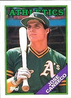 jose canseco baseball card 1988