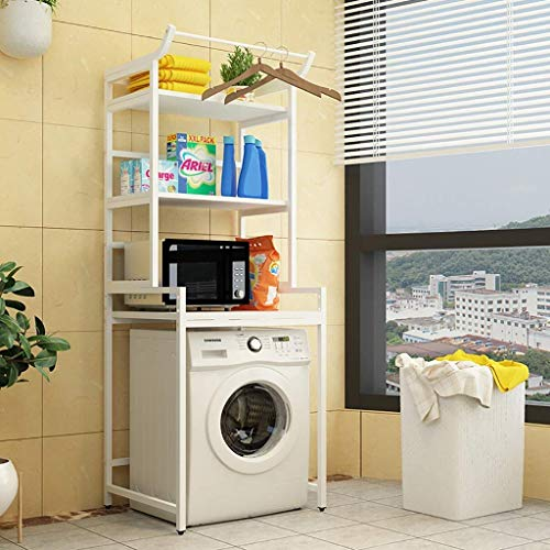 YANGSANJIN Shelf Utility opbergrek, 3-laags wasmachine opbergrek - universeel metaal badkamer rek - Utility opberg-tandstang voor wasruimte toilet (kleur: 6)