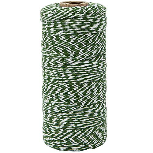 Bakers Twine 240-Yards 4Ply Striped Kelly Green