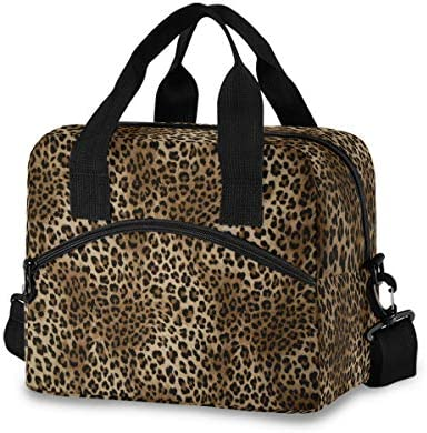 Leopard Print Lunch Bags for Women Animal Tiger Skin Lunch Tote Bag Lunch Box Water resistant product image
