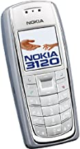 Nokia Unlocked 3120c Bar Phone Color Screen Old Man Mobile Phone Student Mobile Phone (White Grey)