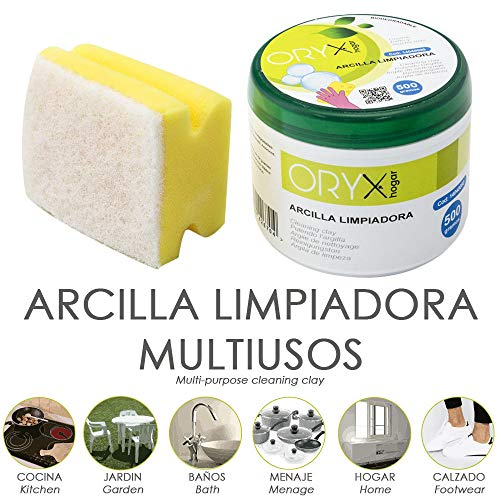 ORYX 14040090 Arcilla Limpiadora Multiusos Tarro 500 Gramos