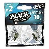 FIIISH Black Minnow 2 - Señuelo de Vinilo para Pesca (señuelos, Need to be reviewed, Packs), Color Plateado, Talla UK: 10 g