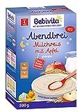Bebivita Abendbrei Milchreis mit Apfel, ohne Zuckerzusatz, glutenfrei, 500g nach dem 4. Monat