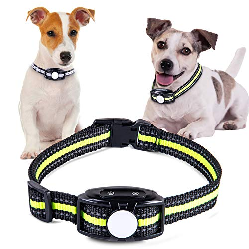 Shine Decor Anti Bark Dog Collar, No Shock with 2 Vibration Modes, IP67 Waterproof Rechargeable Anti Bark Device, 2 Straps for Small Medium Large Dog