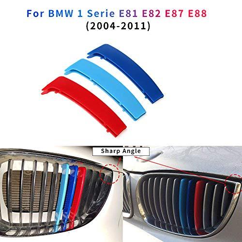 3 Colores Adhesivos para Parrilla Delantera para 1 Serie E81 E82 E87 E88 2004-2011 3 Piezas (12 Varillas Ángulo Agudo)