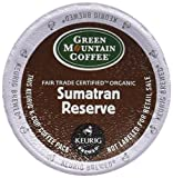 Keurig 099555000603 Green Mountain Fair Trade Organic Sumatran Reserve Extra Bold Coffee K-Cups, 18 Count, Multicolor