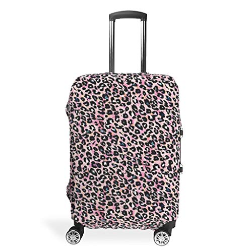 BTJC88 Leopard Travel Suitcase Cover Protector - Sexy Stylish 4 Sizes fit Lots of Baggage White XL(30-32 inch)