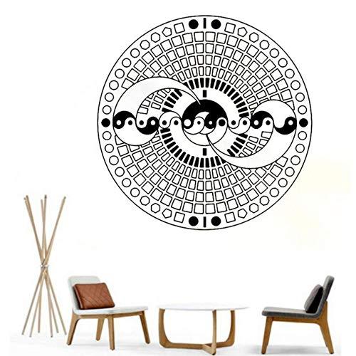 Yssyss Yin Yang Vinyl Wall Stickers Home Art Decoration Living Room Detachable Mandala Wall Decal Yoga Studio Decoration Bedroom Sticker 56 * 56Cm