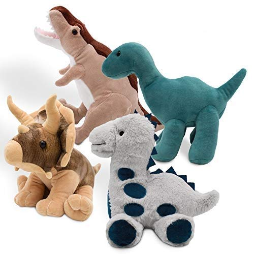 Passionfruit Dinosaur Plush Stuffed Animals | Adorable 12Inch Dinosaur Toys for Boys and Girls | Assortment of Soft Squeezable Huggable Cute Stuffed Animals Makes a Great Gift for Kids | 4 Pack