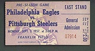 Philadelphia Eagles Vs. Pittsburgh Steelers Ticket Stub Sept. 2, 1957 123939